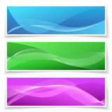 Abstract Banner Background Set Stock Images