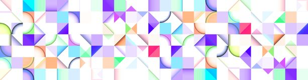 Abstract Banner, Bitmap, Computer Generated. 2D Vector stock illustration