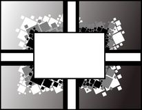 Abstract banner on black with squares Royalty Free Stock Photo