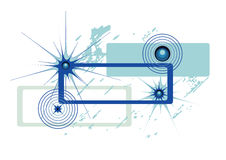 Abstract banner blue Stock Photo