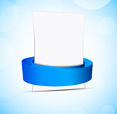 Abstract banner with blue ribbon Royalty Free Stock Photo
