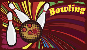Abstract banner for bowling hall Stock Image