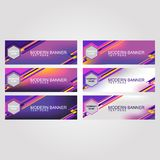 Abstract_Banner_Bright_Neon_Color illustration libre de droits