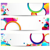 Abstract banner with circle forms. Stock Photos