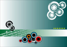 Abstract banner with circles Stock Images
