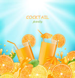 Abstract Banner for Cocktail Party Royalty Free Stock Photos