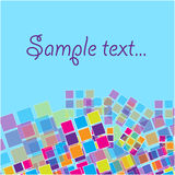 Abstract banner with colored squares Stock Image