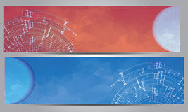 Abstract Banner Colorful Design Royalty Free Stock Images