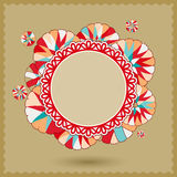 Abstract Banner with Colorful Round Ornament Royalty Free Stock Photo