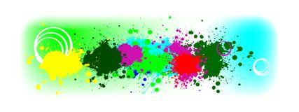 Splash banner. Abstract banner with colorful splash Stock Images
