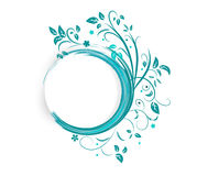Abstract banner with curls of blue color Royalty Free Stock Photography