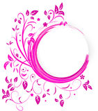 Abstract banner with curls of pink color Royalty Free Stock Image