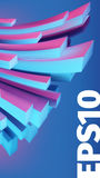 Abstract banner 3D background. Angular box distortion. Web banner stock illustration