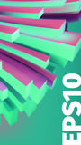 Abstract  banner 3D background. Angular box distortion. For web or printing Stock Images