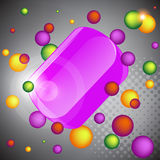 Abstract banner of 3d balls. Stock Photo