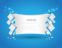 Abstract banner 3D style. Royalty Free Stock Photography