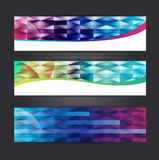 Abstract banner design. Collection abstract banner design Horizontal,  illustration Stock Images