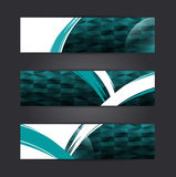 Abstract banner design. Collection banner design Horizontal,  illustration Royalty Free Stock Photo