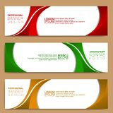 Modern banner template, minimalist banner web template, abstract banner design royalty free stock images