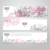 Abstract banner design. With modern geometric polygon element over white Stock Photo