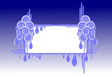 Abstract banner with drops Royalty Free Stock Photography