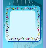 Abstract banner with flowers in blue tones Royalty Free Stock Images