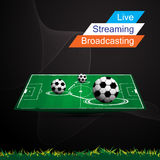 Abstract banner football soccer live stream broadcasting design Stock Image