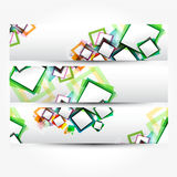Abstract banner with forms of empty frames for you Royalty Free Stock Photography