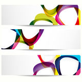Abstract banner with forms of mediator. Royalty Free Stock Images