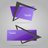 Abstract banner with frame royalty free illustration