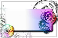 Abstract banner with the gears. Royalty Free Stock Images