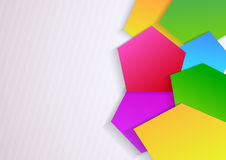 Abstract banner with geometrical elements. Clip-art vector illustration