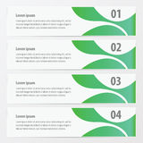 Abstract banner green. Color,vectors design eps 10 stock illustration