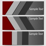 Abstract banner header fiber carbon in black and red vector illustration. Background stock illustration