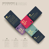 Abstract banner infographics. Modern 3d vector abstract banner infographic elements Royalty Free Stock Images