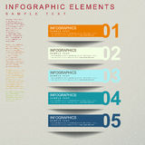Abstract banner infographics. Modern 3d vector abstract banner infographic elements Royalty Free Stock Photo