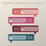 Abstract banner infographics Stock Image