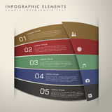 Abstract banner infographics Stock Photography