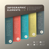 Abstract banner infographics royalty free illustration