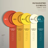 Abstract banner infographics. Modern vector abstract 3d banner infographic elements royalty free illustration