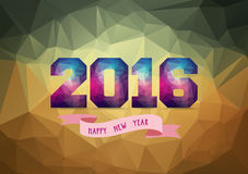2016 Abstract Banner with label.  Royalty Free Stock Image