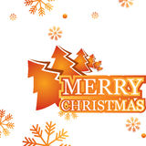 Abstract banner Merry Christmas Stock Photography