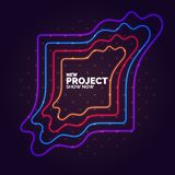 Abstract banner with neon lines on a dark background. Vector illustration stock illustration