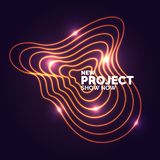 Abstract banner with neon lines on a dark background. Vector illustration royalty free illustration