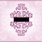 abstract banner or pink background plant pattern Stock Photo