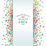 Abstract banner promotion of world wild life day Stock Image