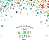 Abstract banner promotion of world wild life day Stock Photography