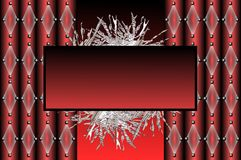 Abstract banner in red Stock Image
