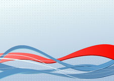Abstract banner with red wave Royalty Free Stock Images