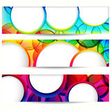 Abstract banner with round forms. Royalty Free Stock Photo